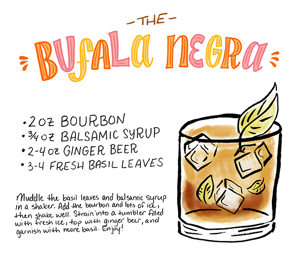 OSBP Signature Cocktail Recipe Card Bufala Negra Shauna Panczysyzn Friday Happy Hour: The Bufala Negra