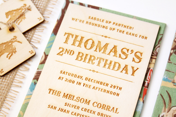 Western 2nd Birthday Party Invitations Vellum Vogue5 Thomass Western Rodeo 2nd Birthday Party Invitations