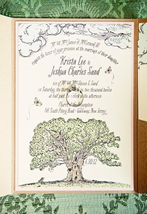 Woodland Fairy Tale Wedding Invitations Kake Stationery2 300x436 Krista + Joshs Whimsical Woodland Wedding Invitations