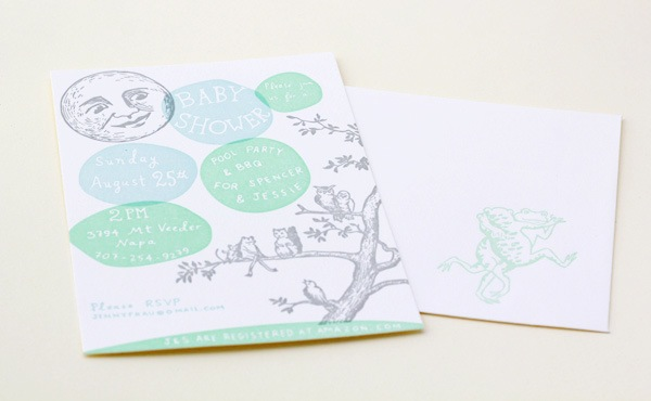 Woodland Letterpress Baby Shower Invitations Shipwright Co2 Jessie + Spencers Storybook Inspired Baby Shower Invitations