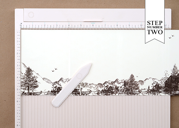 step21 DIY Tutorial: Rubber Stamp Mountain Inspired Save the Dates