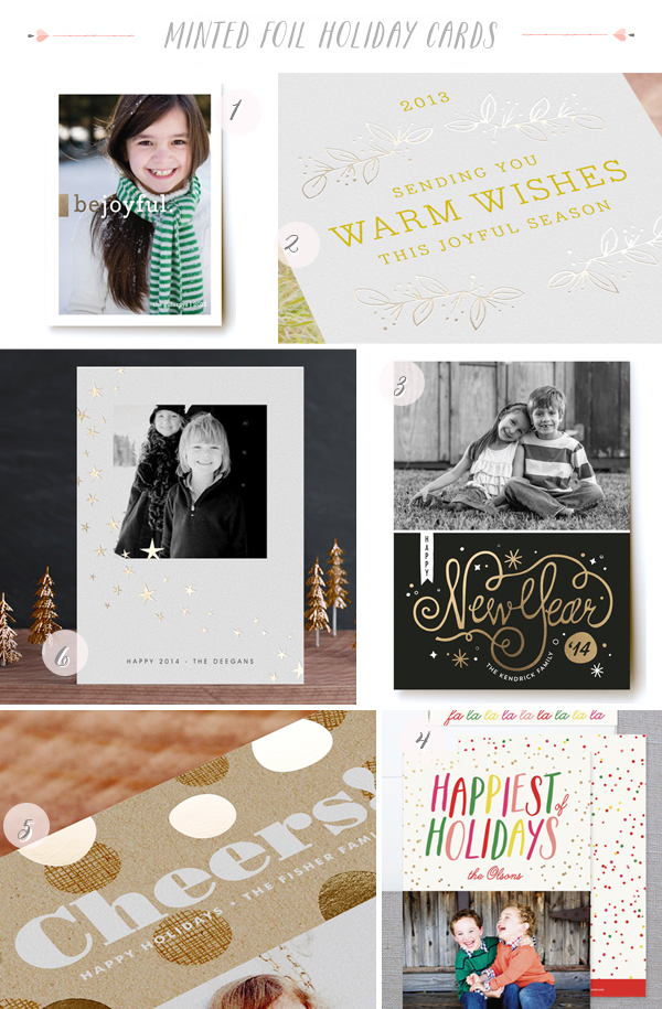 2013 Minted Foil Holiday Cards11 Foil Holiday Cards from Minted – and a Giveaway!