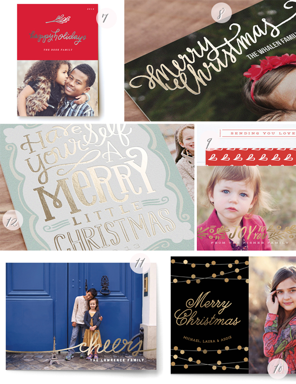 2013 Minted Foil Holiday Cards2 Foil Holiday Cards from Minted – and a Giveaway!