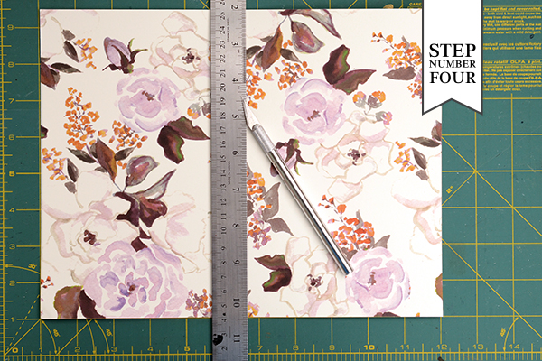 Clay floral STD step4 DIY Tutorial: Rubber Stamp Clay Save the Dates