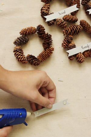 DIY Mini Pinecone Wreath Placeholder Step 41 300x450 DIY Tutorial: Mini Pinecone Wreath Placeholders