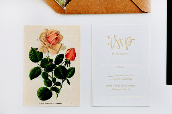 Floral Calligraphy Romantic Wedding Invitations AllieRuth Design6 Sara + Bobs Romantic Floral Wedding Invitations