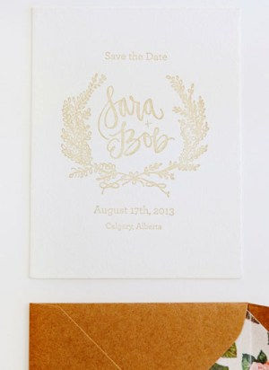 Floral Calligraphy Romantic Wedding Invitations AllieRuth Design7 300x412 Sara + Bobs Romantic Floral Wedding Invitations