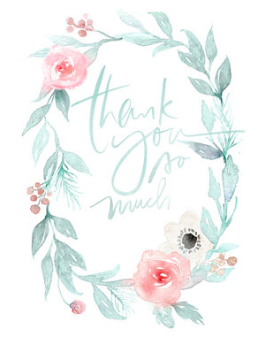 Julie Song Ink Thank You Card Quick Pick: Julie Song Ink