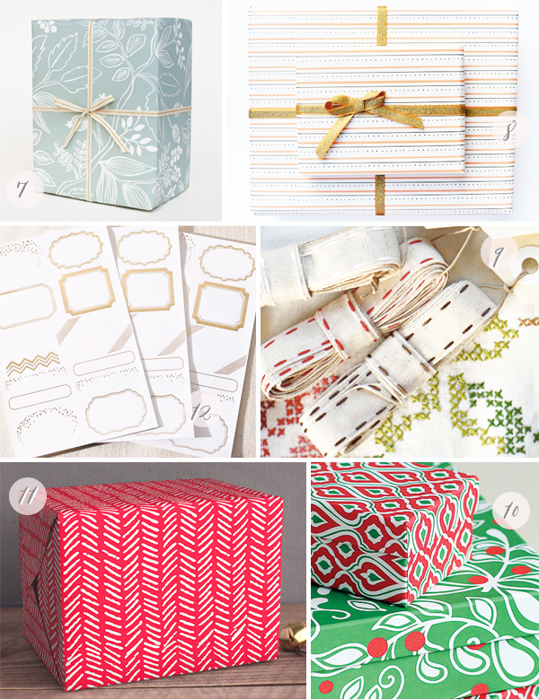 2013 Holiday Gift Wrap Part2 Seasonal Stationery: Holiday Gift Wrap + Tags