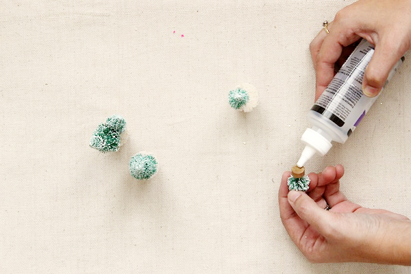 DIY Snowy Tree Wine Stoppers Fabric Paper Glue OSBP Step5 DIY Tutorial: Snowy Tree Wine Stoppers