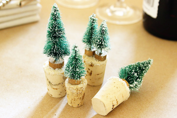 DIY Snowy Tree Wine Stoppers Fabric Paper Glue OSBP3 DIY Tutorial: Snowy Tree Wine Stoppers