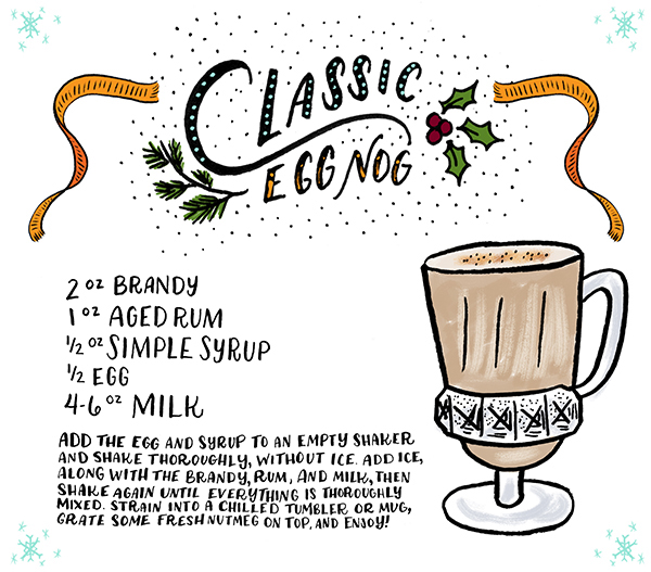 OSBP Signature Cocktail Recipe Classic Egg Nog Shauna Lynn Illustration1 Friday Happy Hour: Classic Egg Nog