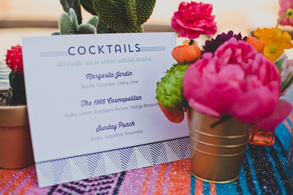 Signature Drink Sign Prim and Pixie Wild Whim Design Wedding Stationery Inspiration: Signature Drink Signs