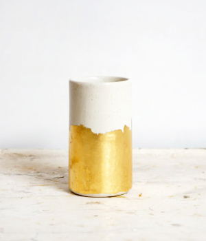 The Object Enthusiast Gold Cylinder Vase Quick Pick: The Object Enthusiast