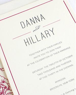 Classic Elegant Floral Wedding Invitations Rafftruck5 Danna + Hillarys Classic Floral Wedding Invitations