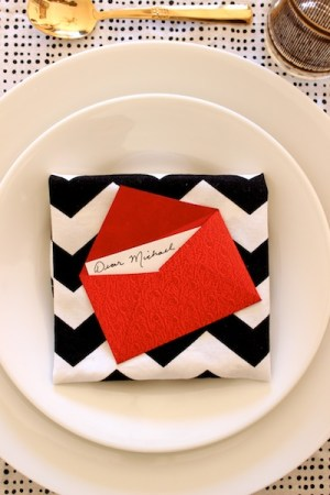 DIY Mini Love Letter Placecards OSBP 15 DIY Tutorial: Love Letter Dinner Party Placecards