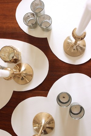 DIY White Leather Heart Placemats OSBP 11 DIY Tutorial: White Leather Heart Placemats
