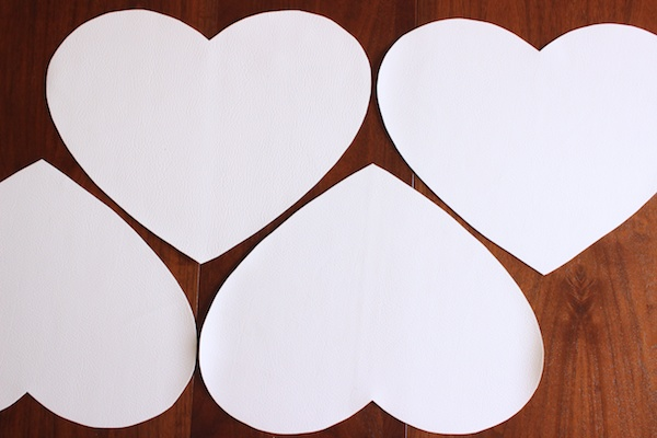 DIY White Leather Heart Placemats OSBP 7 DIY Tutorial: White Leather Heart Placemats