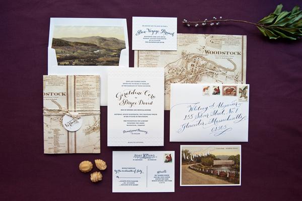 Elegant Gold Foil Wedding Invitations Gus Ruby Letterpress Geri + Bryces Elegant Gold Foil Wedding Invitations