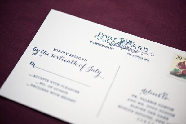 Elegant Gold Foil Wedding Invitations Gus Ruby Letterpress8 Geri + Bryces Elegant Gold Foil Wedding Invitations