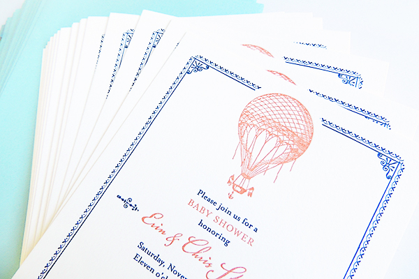 Hot Air Balloon Adventure Baby Shower Invitation Harken Press3 Chris + Erins Adventure Inspired Baby Shower Invitations
