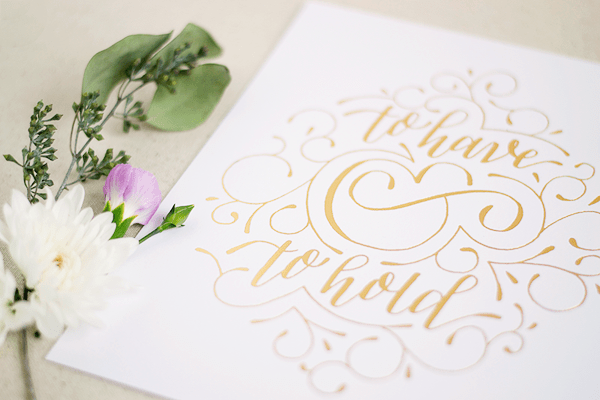 Paper and Honey Gold Foil Valentines Day Print5 Quick Pick: Paper & Honey