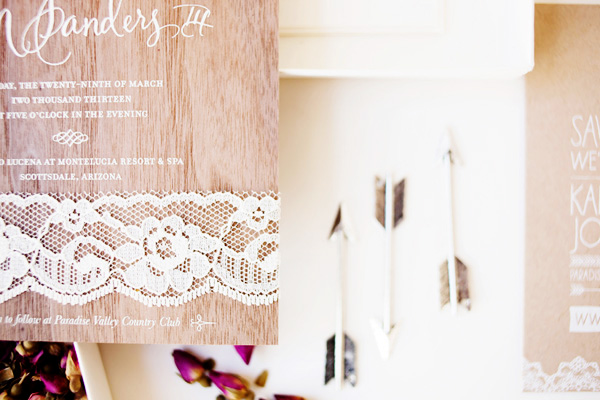 Rustic Glam Wood Lace Wedding Invitations Idieh Design6 Kaitlyn + Johns Rustic Glam Wedding Invitations