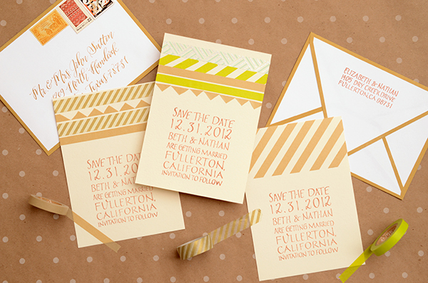 final DIY Tutorial: Modern Washi Tape Save the Dates