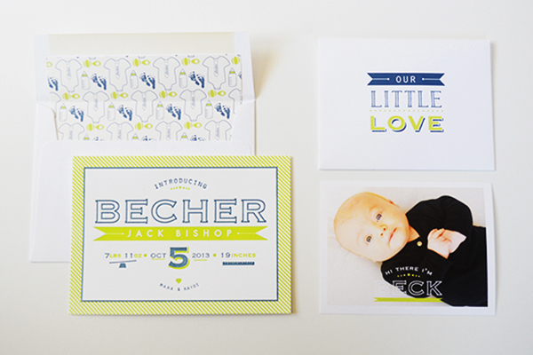 Chartreuse Letterpress Birth Announcement Maison Yellow10 Becks Chartreuse Letterpress Birth Announcements