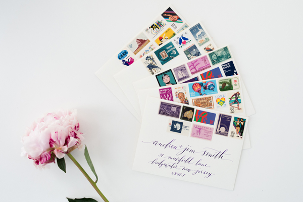 How To Mix Vintage Postage Underwood Letterpress Anne Robin Calligraphy Love Stationery Inspiration: Mixing Vintage Postage