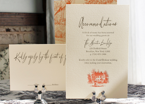 Toile Pattern Wedding Invitations Lucky Luxe Couture Correspondence7 Sarah + Alans Modern Toile Wedding Invitations