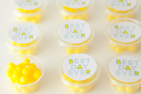 Best Day Ever Favors Marcelle Calder Photography Wedding Stationery Inspiration: Best Day Ever