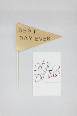 Best Day Ever Flags Stoffer Photography 300x450 Wedding Stationery Inspiration: Best Day Ever