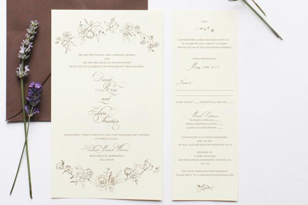 Romantic Floral Wedding Invitations Belinda Love Lee4 Claire + Davids Romantic Floral Wedding Invitations