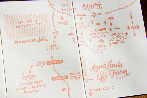 Hand Lettered Wedding Invitations Ladyfingers Letterpress OSBP9 Emily + Mikes Desert Botanical Wedding Invitations