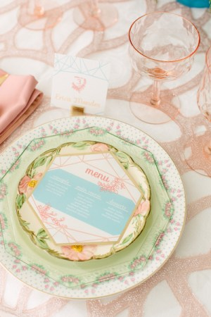 Pastel Wedding Menu Chykalophia Design 300x450 Wedding Stationery Inspiration: Pastels