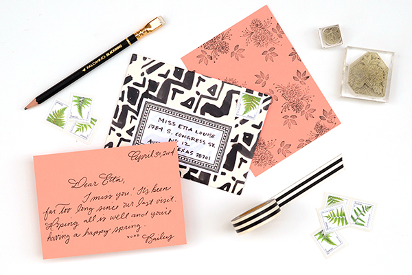 Pattern Stationery FInal DIY Tutorial: Modern Personal Stationery Gift Set