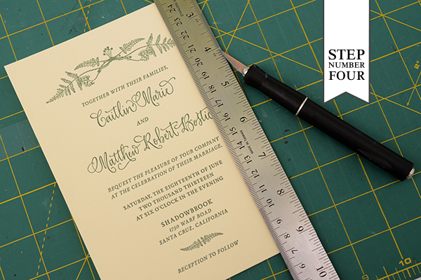 Patterned Backer Step4 DIY Tutorial: How to Back Invitations with Patterned Paper