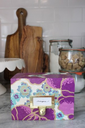 DIY Recipe Box OSBP 6 300x450 DIY Tutorial: Mothers Day Recipe Box