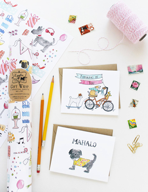 NSS Sneak Peek Lydia and Pugs Wrap Greetings NSS 2014 Sneak Peek: Lydia & Pugs