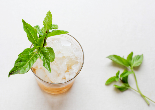 Signature Cocktail Recipe Basil Mint Julep OSBP 4 Friday Happy Hour: The Basil Mint Julep