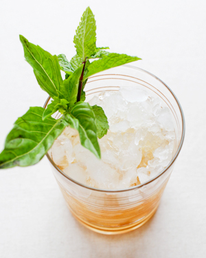 Signature Cocktail Recipe Basil Mint Julep OSBP 8 Friday Happy Hour: The Basil Mint Julep