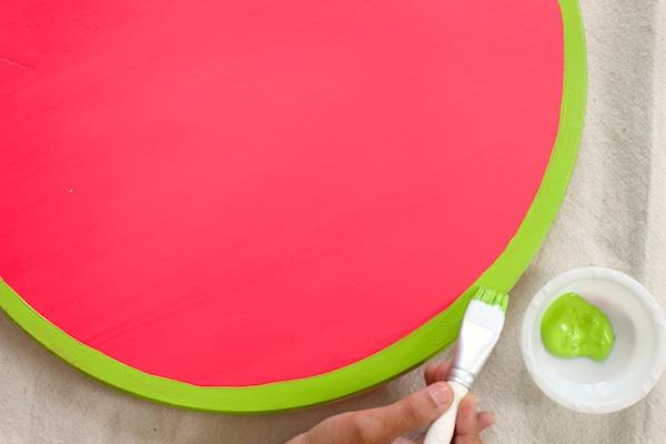 DIY Watermelon Serving Tray OSBP 3 DIY Tutorial: Watermelon Serving Tray