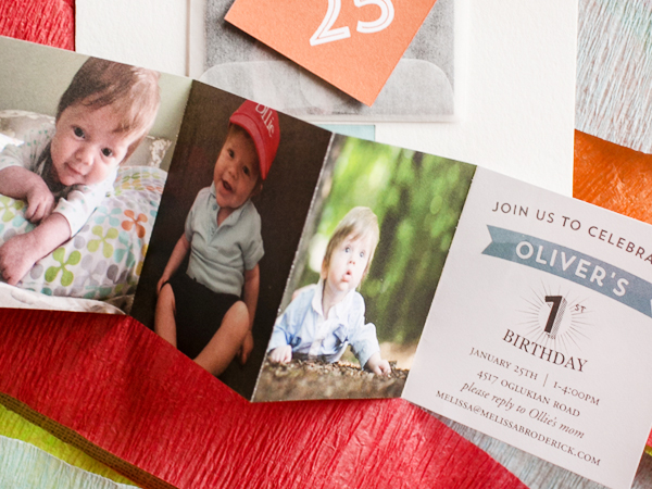 First Birthday Party Invitation Atheneum Creative Olivers Colorful First Birthday Party Invitations