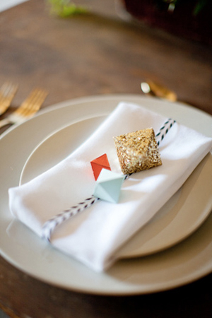 Geometric Place Setting Ideas Little Cat Design Co Scott Michael Photography Wedding Stationery Inspiration: Geometric Shapes