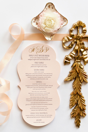 Lasercut Great Gatsby Wedding Invitations Coral Pheasant OSBP10 Nicole + Patricks Vintage Inspired Lasercut Wedding Invitations