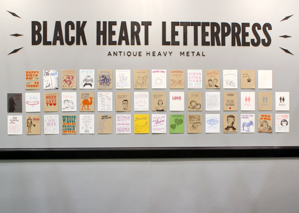 OSBP NSS 2014 Black Heart Letterpress 3 National Stationery Show 2014, Part 13