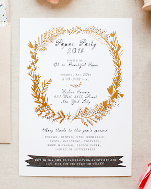 Paper Party 2014 Invitations Oh So Beautiful Paper Mr Boddington Mohawk Smock 10 Paper Party 2014 Invitations!