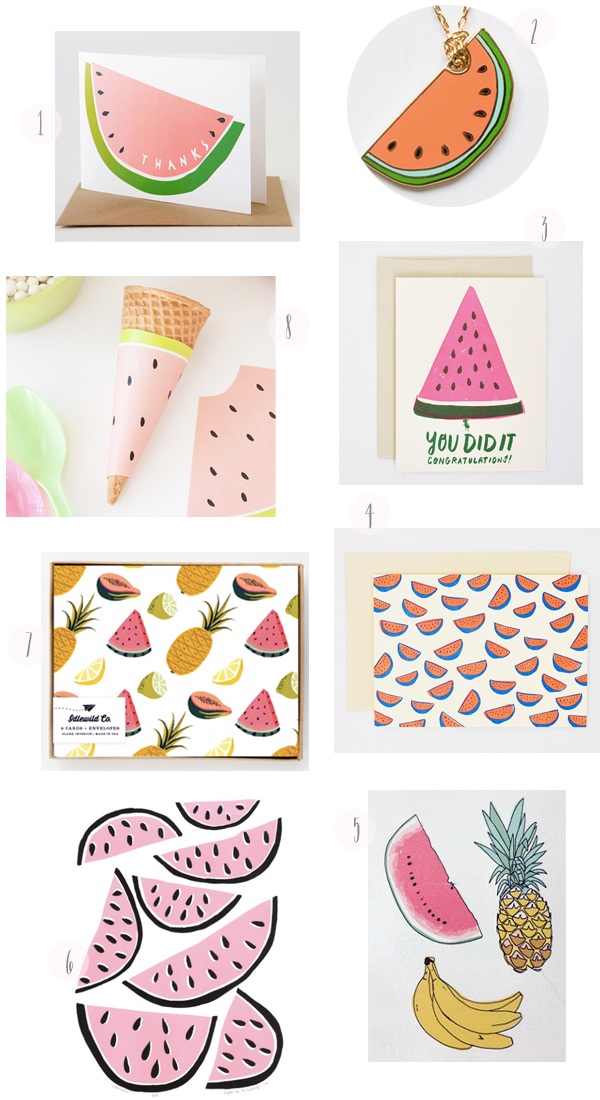 Watermelon Stationery Round Up OSBP Inspired By: Watermelons