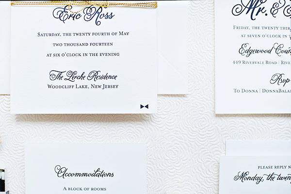 Classic Black White Wedding Invitations Suite Paperie OSBP4 Ashley + Erics Classic Black and White Wedding Invitations